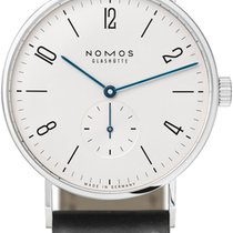 NOMOS Tangente 38 Steel 37.5mm White
