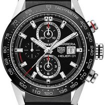 TAG Heuer Carrera Calibre HEUER 01 Steel 43mm Black No numerals