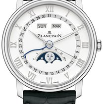 Blancpain Villeret Quantième Complet new 2019 Automatic Watch with original box and original papers 6654-1127-55B