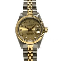 Rolex Aluminium Automatik Orange gebraucht Lady-Datejust