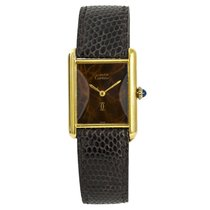 Cartier Tank Vermeil Yellow gold 23mm Brown No numerals United States of America, New York, New York