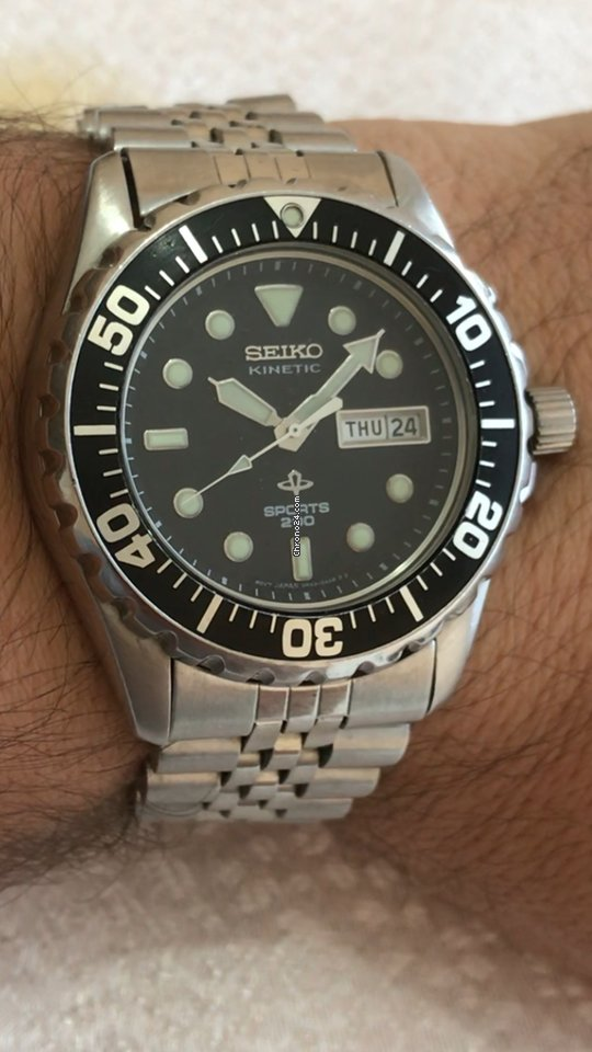 Seiko 2 generation sports 200 vintage diver kinetic steel for 385 for sale from a for Jaeger lecoultre kinetic