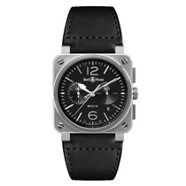 Bell & Ross Steel 42mm Automatic BR0394BLSI/SCA new