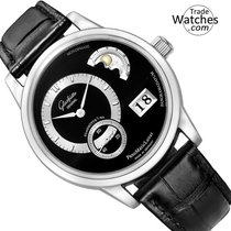 Glashütte Original PanoMaticLunar Platinum 40mm Black No numerals United States of America, Florida, Sunny Isles Beach