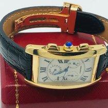 Cartier Tank Américaine Zuto zlato 26mm Bjel Rimski brojevi