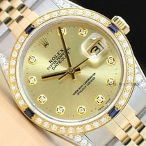 Rolex Datejust pre-owned 36mm Champagne Date Gold/Steel