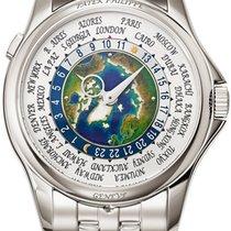 Patek Philippe World Time Platina 39.5mm Bjel