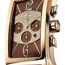 Cuervo y Sobrinos Prominente Red gold 46mm Brown Arabic numerals
