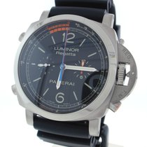 Panerai Luminor 1950 Regatta 3 Days Chrono Flyback pre-owned 47mm Black Chronograph Tachymeter Rubber