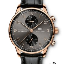 IWC Portuguese Chronograph Roodgoud 40.9mm Grijs Arabisch