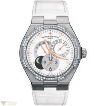 Vacheron Constantin Overseas Dual Time Ladies 18K White Gold...