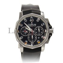 Corum Admiral's Cup Challenger Steel 44mm Black No numerals