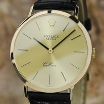 Rolex Cellini 18K Solid Gold 32mm Vintage 1990 w Orig 18k...