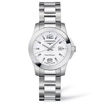 Longines Conquest, L32774166, White Dial, Stainless Steel