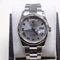 Rolex President Day Date 18k White Gold 118209 Oyster Band...