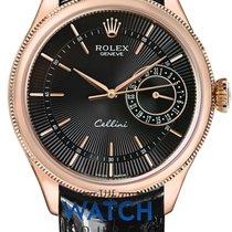 Rolex Cellini Date Oro rosado 39mm Plata