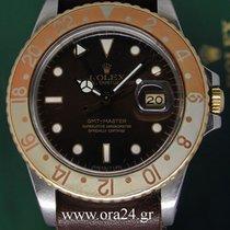 Rolex GMT Master Vintage 40mm 16753 Brown Dial 18k Gold Steel