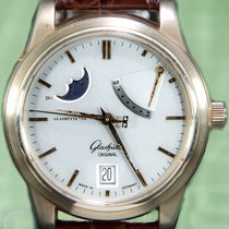 Glashütte Original 40mm Automatic pre-owned Senator (Submodel) White