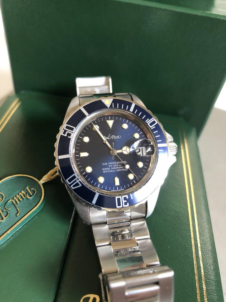 Tag Watches For Sale >> Paul Picot PAUL MARINER PAUL PICOT Paul Mariner Professional... for £1,058 for sale from a ...