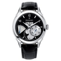 Pequignet Steel Automatic Black Arabic numerals 42mm new Rue Royale