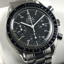Omega Chronographe 39mm Remontage automatique 1989 occasion Speedmaster Reduced Noir