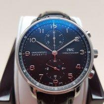 IWC Portuguese Chronograph Stal Czarny Arabskie Polska, Warsaw