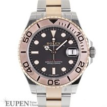 Rolex Yacht-Master 37 Gold/Steel 35mm Grey No numerals