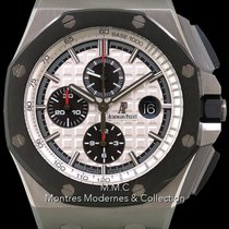 Audemars Piguet Royal Oak Offshore Chronograph pre-owned 44mm Silver Chronograph Date Leather