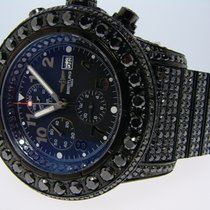Breitling Super Avenger Black On Black Diamond Watch 42 Ct