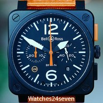 Bell & Ross Aviation Chronograph PVD LTD 42mm, Ref. BR03-94-S