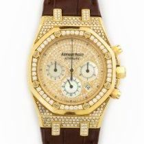 Audemars Piguet Yellow Gold Royal Oak Chrono Diamond Watch...