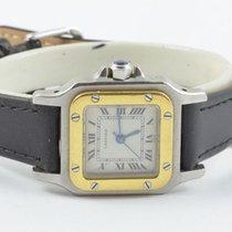 Cartier Santos Damen Uhr 24mm Stahl/gold Top Zustand Rar...