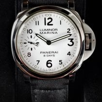 Panerai Luminor SS White Dial 44MM 8 Days