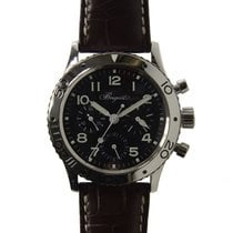 宝玑  (Breguet) Type XXI Stainless Steel Black Automatic...