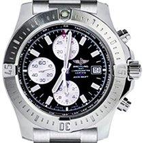 Breitling COLT Chronograph Automatic Steel Bracelet Black Dial...