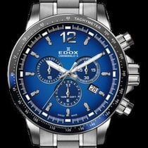 Edox Chronorally-S Chronograph 44mm Blue Dial Mens Swiss Watch...