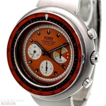 Philip Watch Chronograph 49mm Manual winding 1970 new Caribe Orange