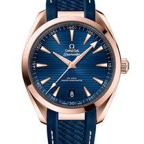 Omega Seamaster Aqua Terra Ouro rosa 41mm Azul