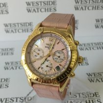 Breitling Yellow gold Automatic Mother of pearl No numerals 37 ohne Drücker/Kronemm pre-owned Chrono Cockpit