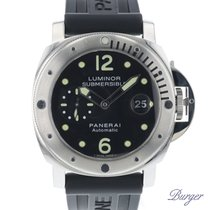 Panerai Luminor Submersible Aço 44mm Preto Árabes