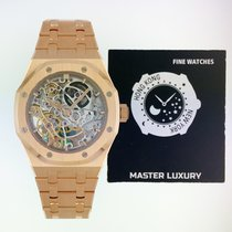 Audemars Piguet Royal Oak Double Balance Wheel Openworked Rose gold 37mm Transparent No numerals United States of America, New York, New York