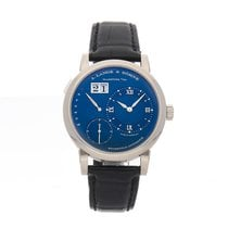 A. Lange & Söhne White gold Automatic Blue Roman numerals 39.5mm pre-owned Lange 1