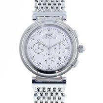 IWC Da Vinci Chronograph pre-owned 37mm White Date Steel