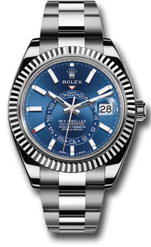Rolex Sky,Dweller Blue dial Steel bracelet 42mm