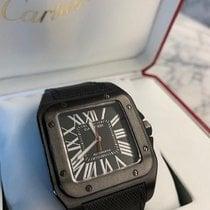Cartier Santos 100 Сталь 51mm Чёрный Римские