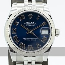 Rolex Lady-Datejust Goud/Staal 31mm Blauw