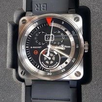 Bell & Ross Steel Automatic Black No numerals 42mm pre-owned BR 03-90 Grande Date et Reserve de Marche