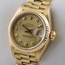 Rolex Lady-Datejust Or jaune 26mm Champagne