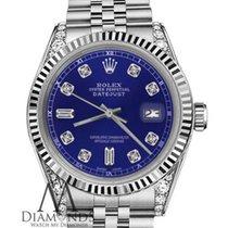 Rolex Lady-Datejust Acier 26mm Bleu Sans chiffres