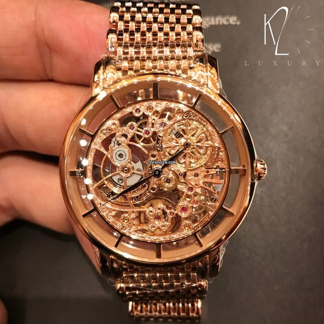 patek philippe 5180 1r skeleton rose gold for price on request for sale from a trusted seller on On patek philippe skeleton